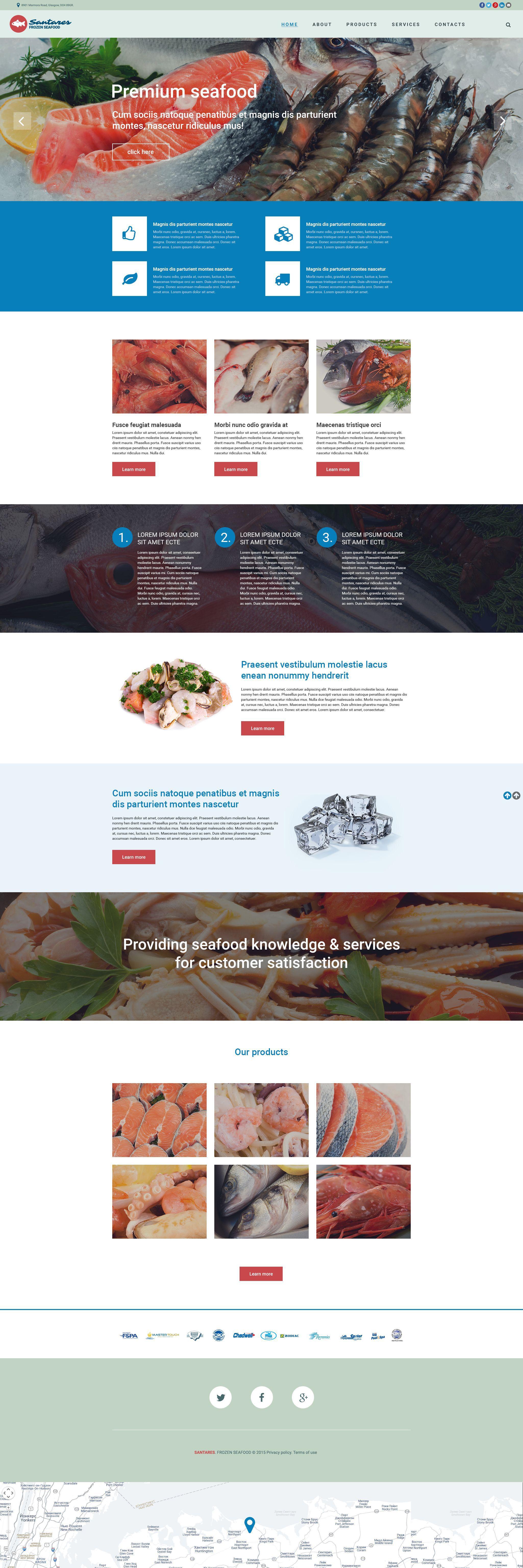 Frozen Food Responsive Website Template 55197 Website Template Responsive Website Template Website Template Design