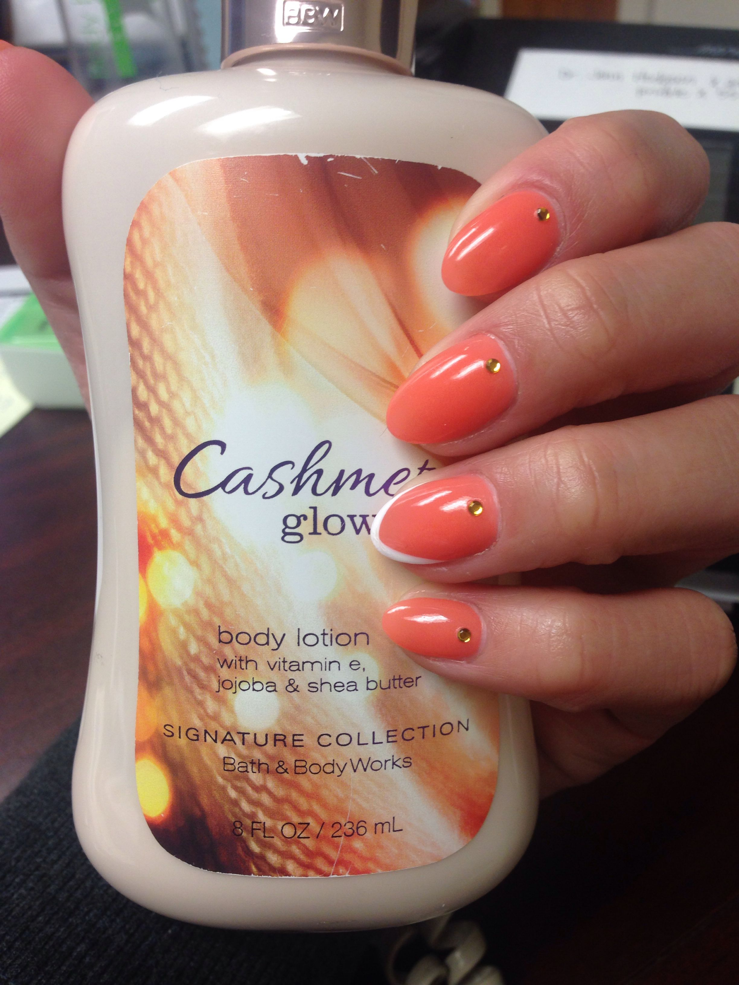 Coral colored pointed nails... def summer time! | N@ils, N@ils, N ...