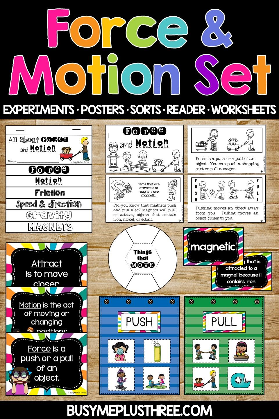 Force And Motion Worksheets Science Experiments Interactive