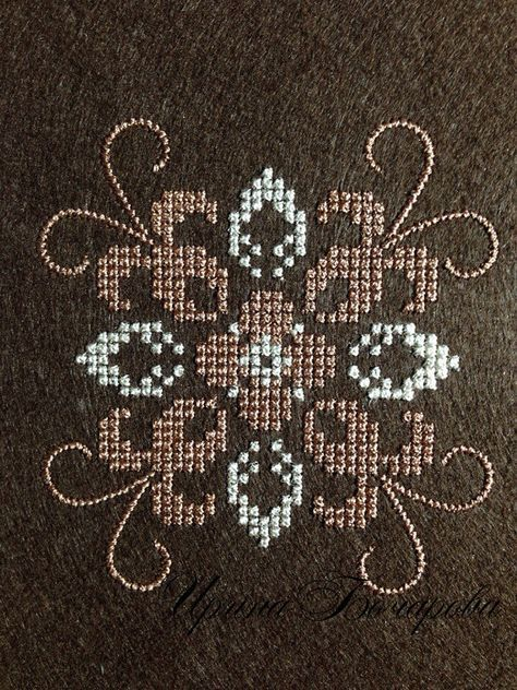 Machine Embroidery Design Pattern Cross Stitch French Knot