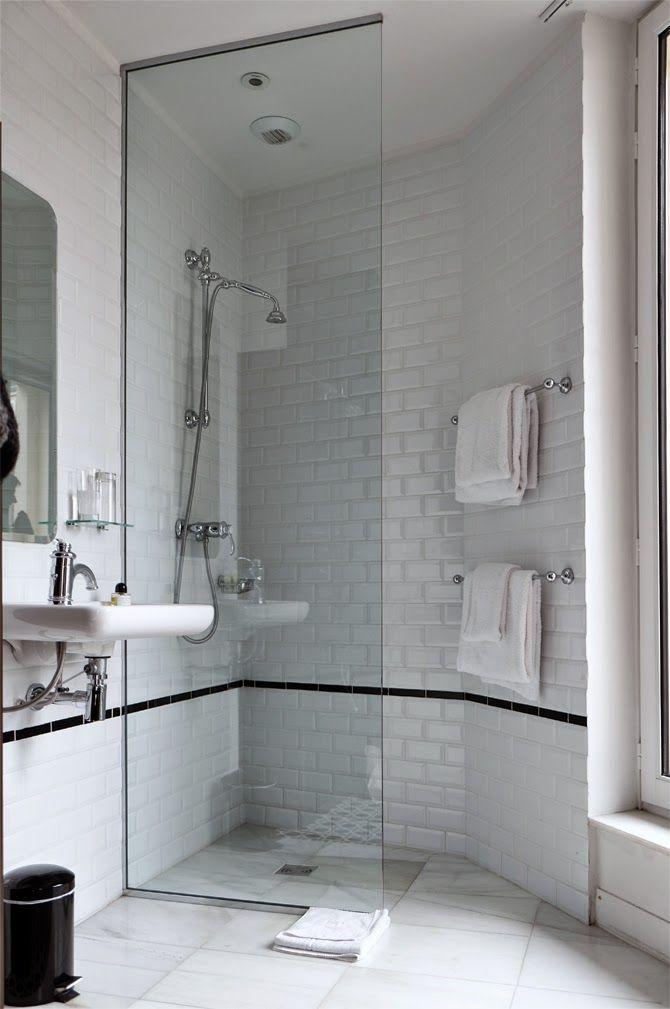 Paris Style Bathroom Decor: European Showering: All One Wet Room Hotel Emile