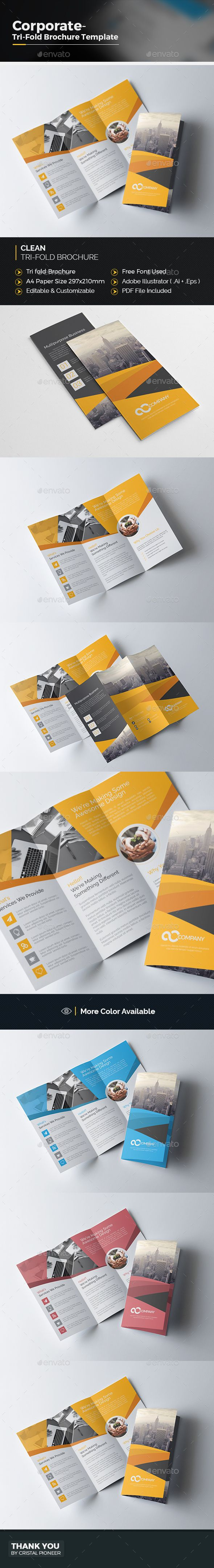 Tri Fold Brochure  Tri Fold Brochure Tri Fold Brochure Template