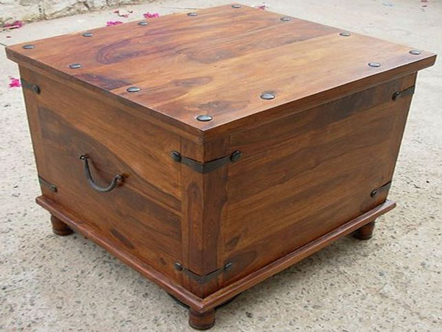 Gorgeous Wood Coffee Table With Storage Square Storage Chest Trunk