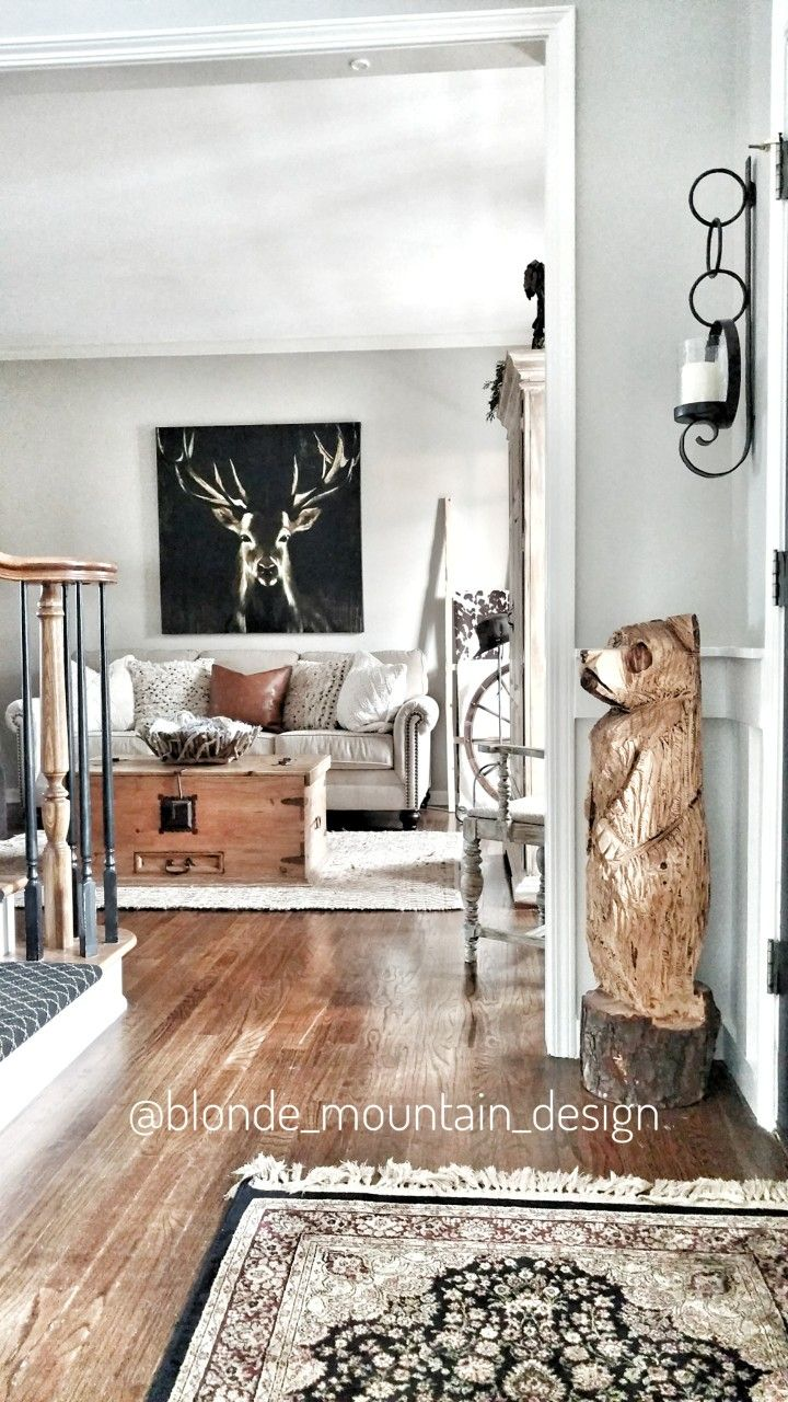 Rustic Nature Inspired Sitting Room, Behr Paint Sculpture Clay ...