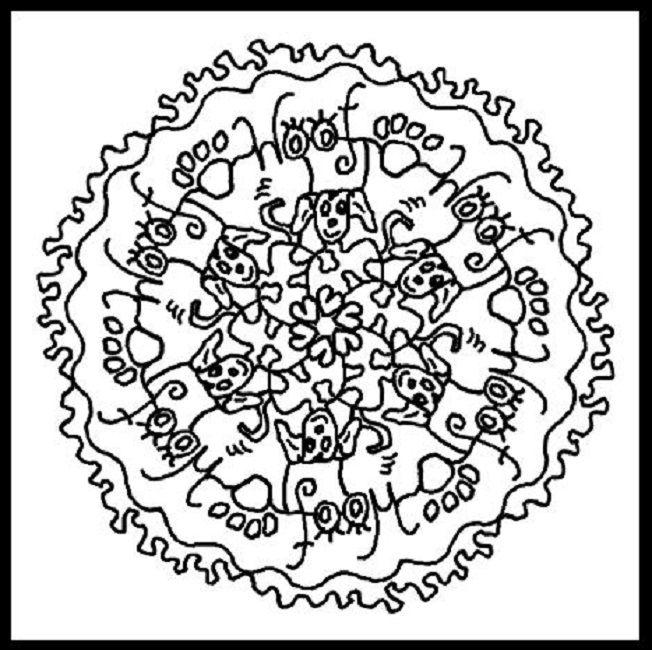 dog mandala coloring pages | Mandala coloring pages ...