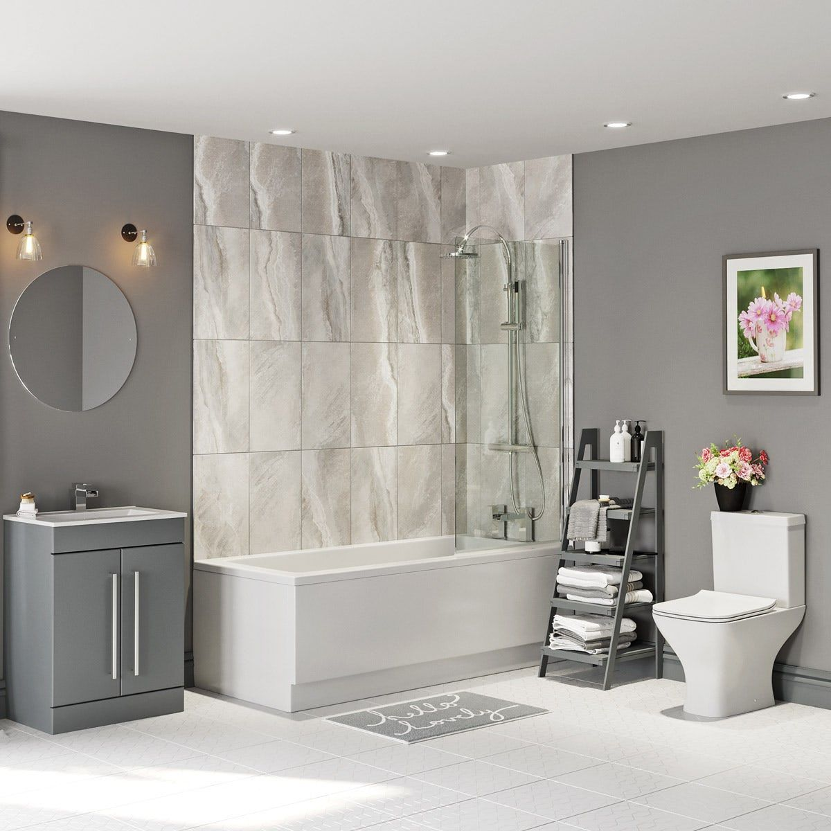 Orchard Derwent Square Straight Shower Bath Suite Shower Bath Shower Suites Contemporary Bathroom Designs