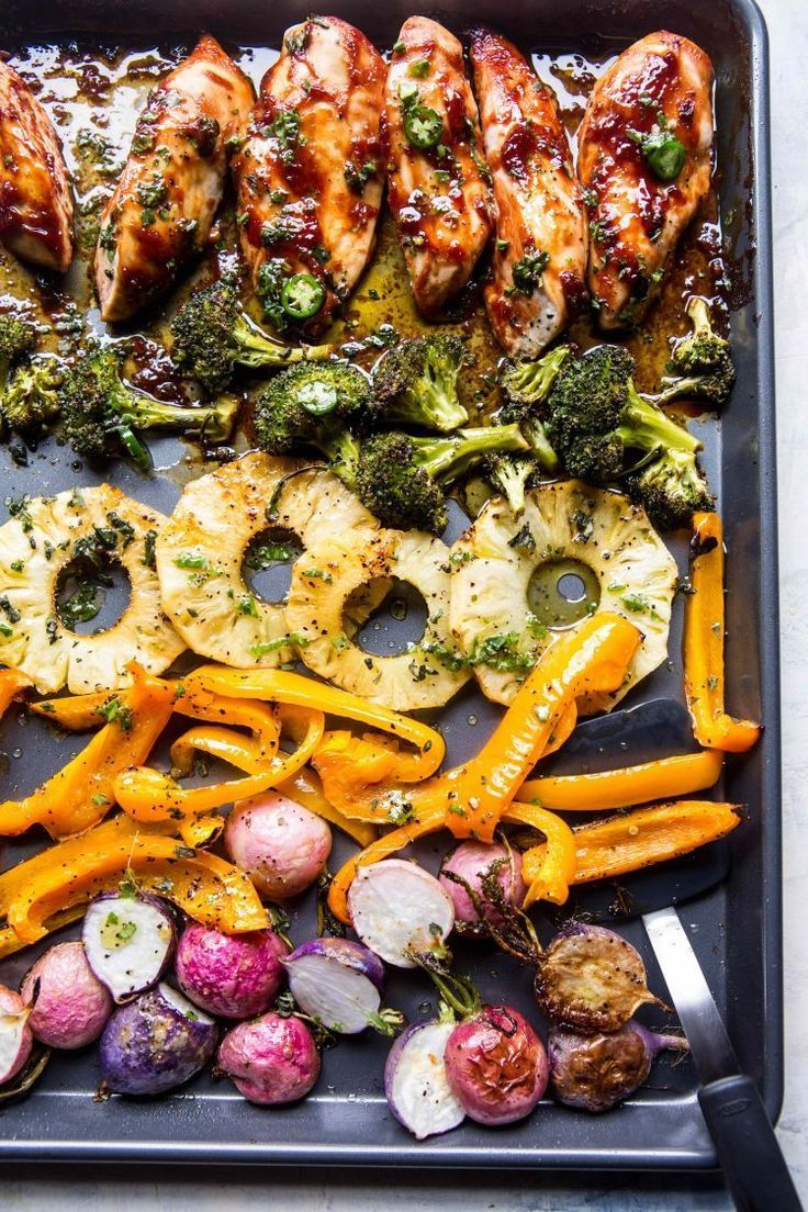 Spring Sheet Pan Chicken Dinner