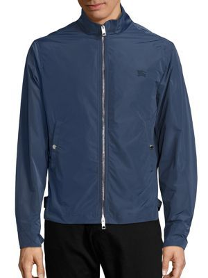 BURBERRY Brighton Solid Jacket. #burberry #cloth #jacket