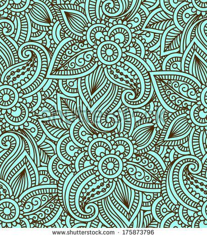 Floral Background With Indian Ornament Seamless Pattern For Your