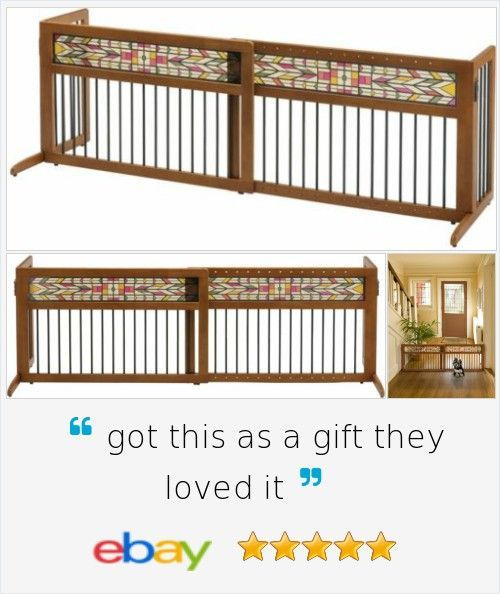 Free Standing Trellis: Indoor #Pet Gate #Free Standing Fence Wood #Dog Safety