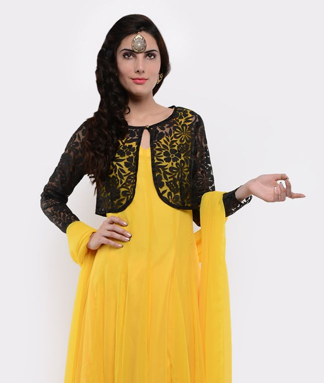 Jacket style Kurti gives you the Punjabi look! | Women Kurtis ...