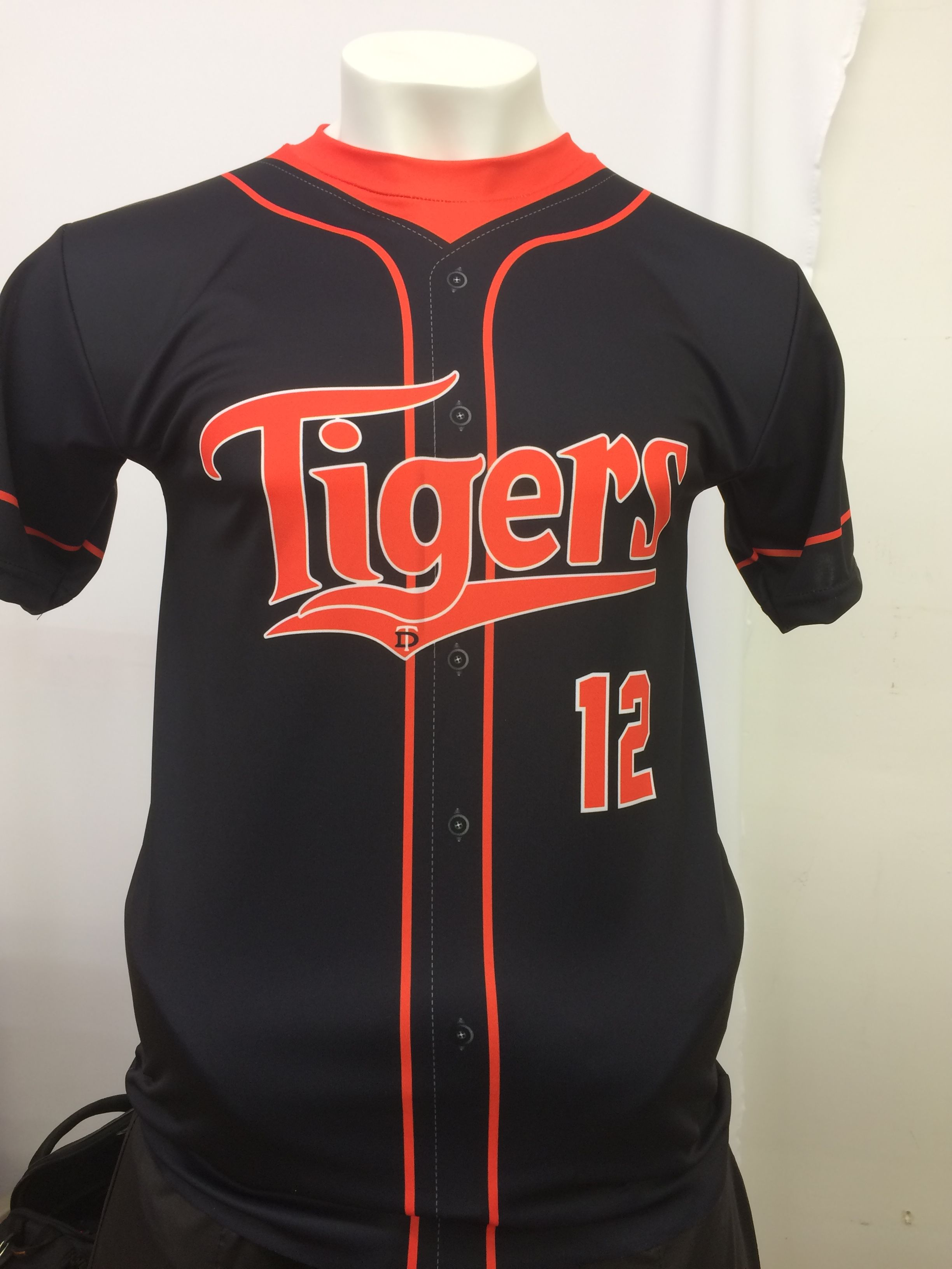 fdd3d2df745 Another custom sublimated baseball t-shirt with sublimated buttons. Made in  the USA at K1 Sportswear.