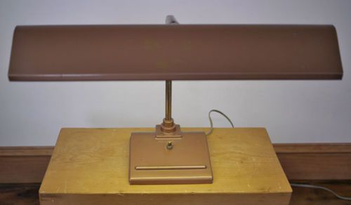 Vintage 1950s Mid Century SightMaster Industrial Era Bronze Desk Drafting Lamp