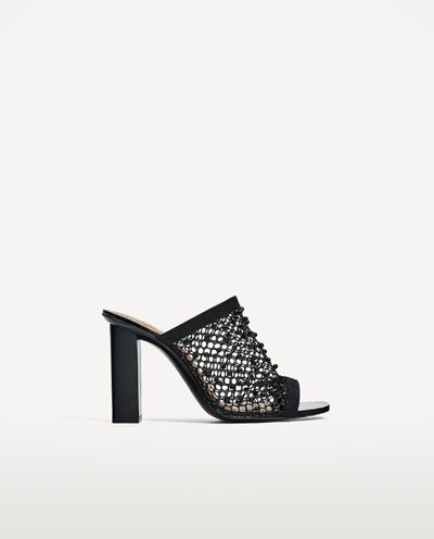 cd9a880a920 Image 2 of HIGH HEEL MESH SANDAL from Zara