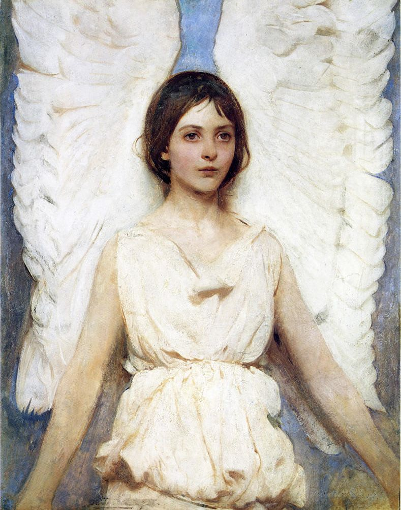 Abbott Handerson Thayer  Winged Figure; Angel  1888. so light