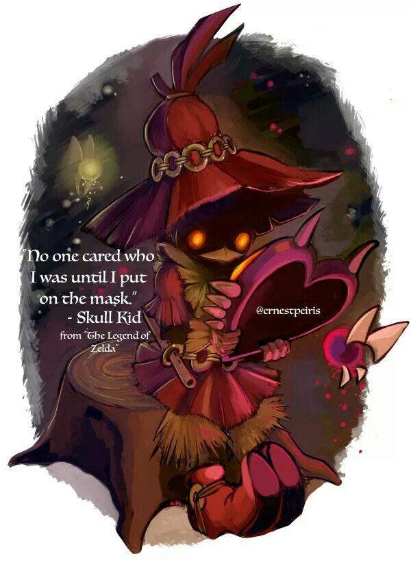 Skull Kid Quote Majora S Mask Zelda Tattoo Legend Of Zelda