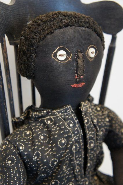 Примитивные чердачные куклы негритянки