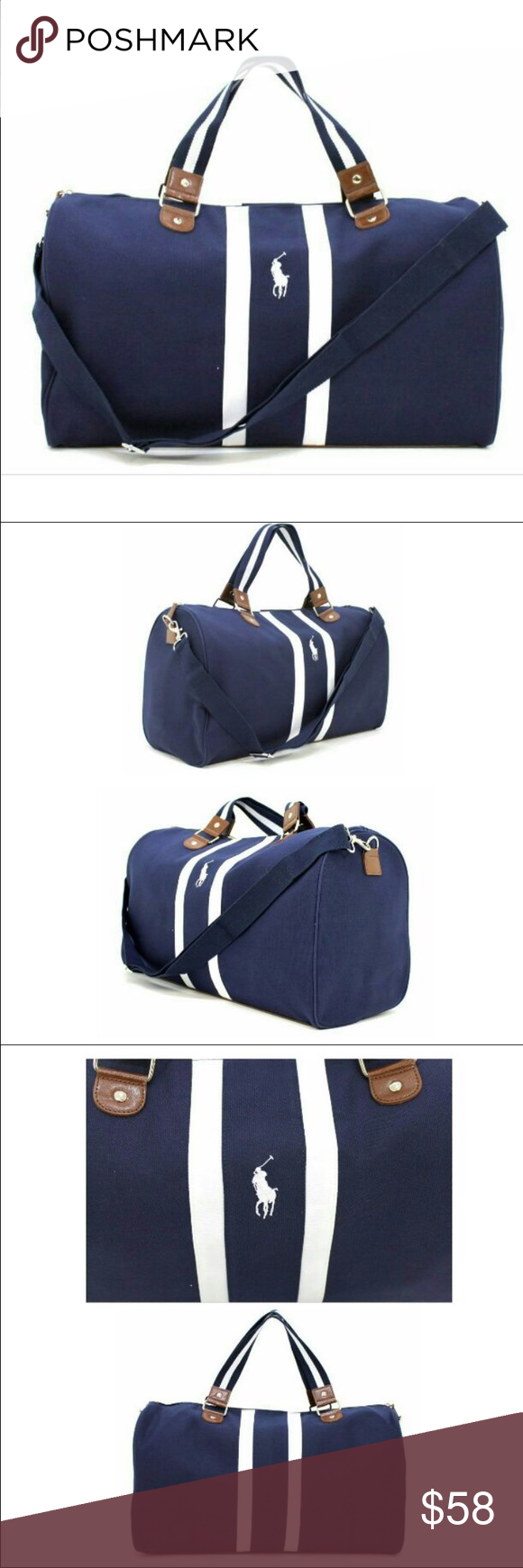 33865c2ef8 Polo ralph Lauren duffle bag Ralph Lauren Polo Dark Navy Blue White Weekend  Travel Gym Holdall Bag Sporty