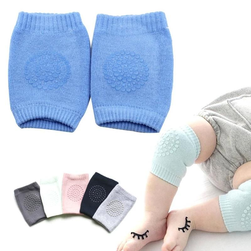 Baby Safety Knee Protection Pads Cartoon Cotton Kids Crawling Leg Warmers Kneecap
