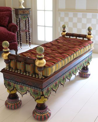 """""""Ridiculous"""" Bench by MacKenzie-Childs at Neiman Marcus."""