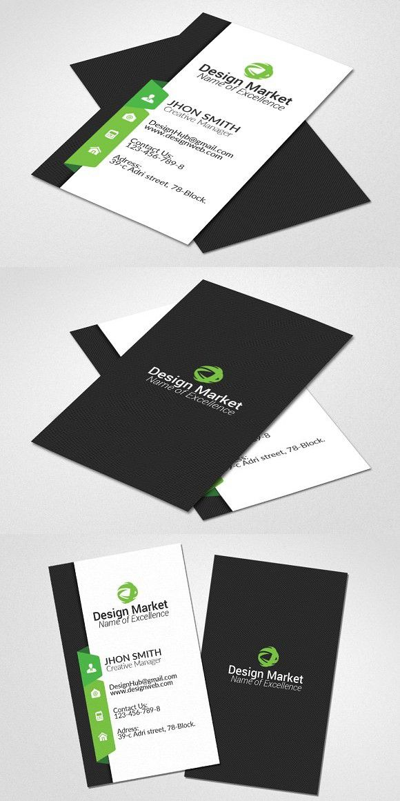 Vertical Business Card Template  Vertical Business Cards Card