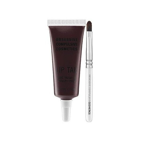 Obsessive Compulsive Cosmetics Lip Tar Black Dahlia 0.33 oz (51 BRL) ❤ liked on Polyvore featuring beauty products, makeup, lip makeup, lips, beauty, cosmetics and lip products