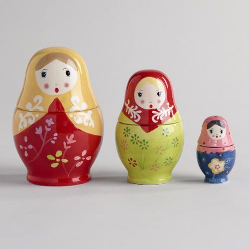 3 Measuring Cups Plastic Nesting Dolls Matryoshka