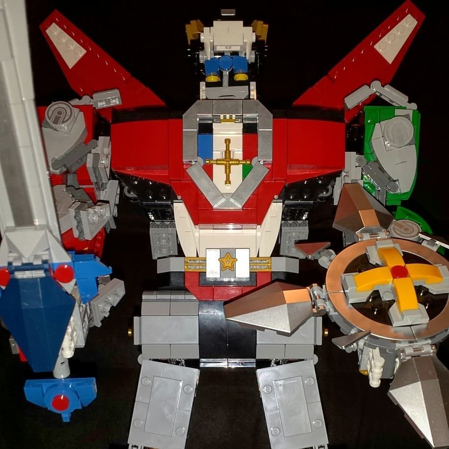 Its finished voltron defender of the universe lego