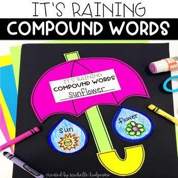 Compound Words Activity: It's Raining Compound Words Craftivity