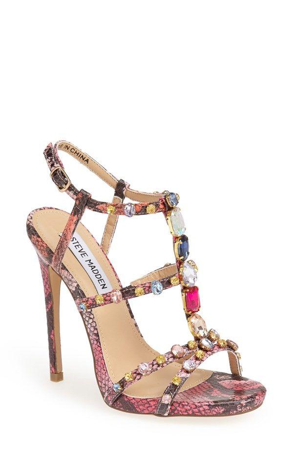 c19455592d Steve Madden 'Majestyc' Jeweled T-Strap Sandal | My Style | T strap ...