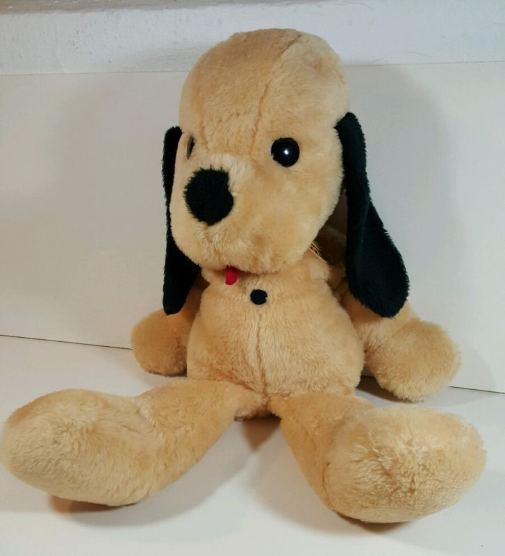 Large Henry Dog Vintage Animal Fair Plush Yellow Stuffed Toy