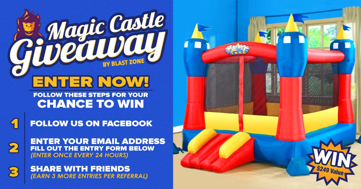 Miraculous Win A Magic Castle Bounce House From Blast Zone Giveaways Download Free Architecture Designs Scobabritishbridgeorg