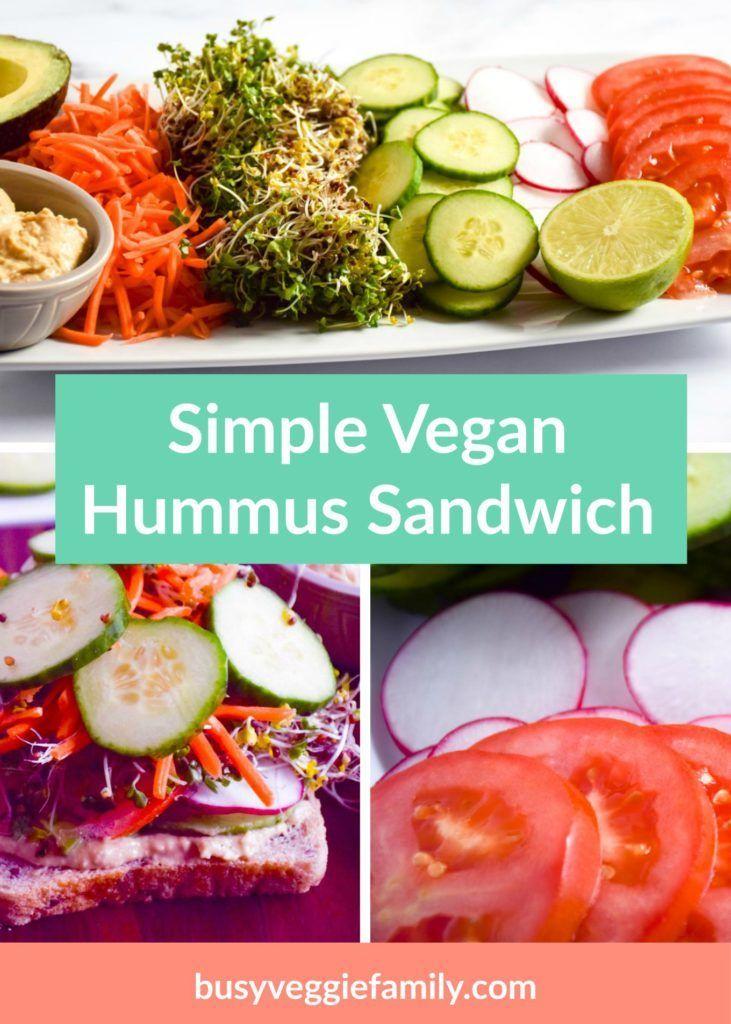 Simple Vegan Hummus Sandwich