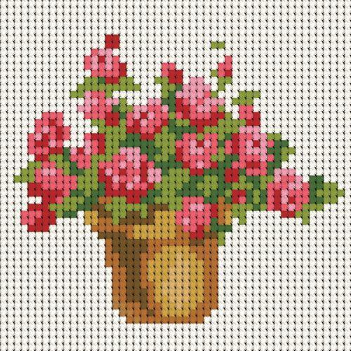 Схема для вышивки крестом цветочек