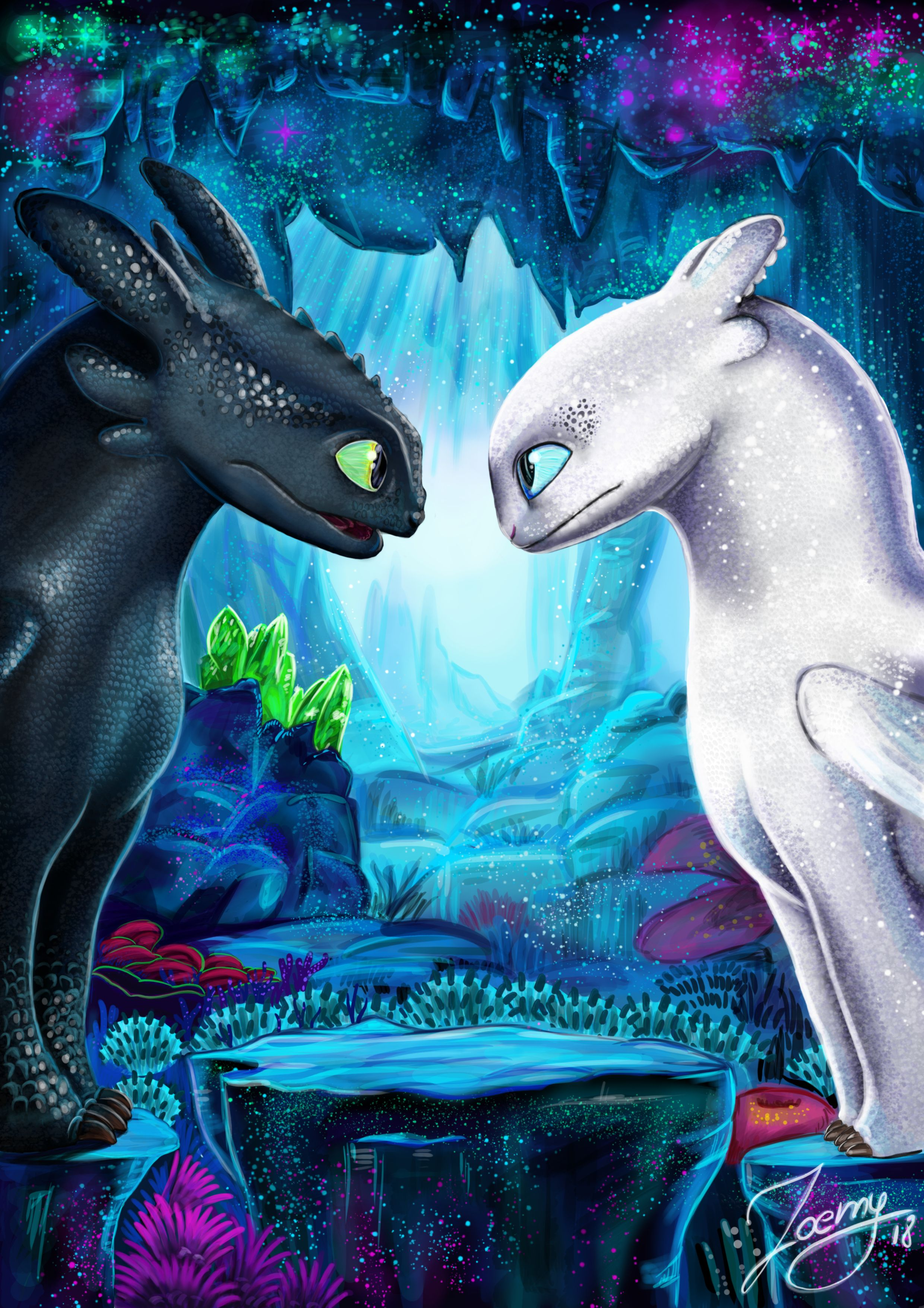 Art C Zoemy The Light Fury C Dreamworks How To Train Your Dragon3