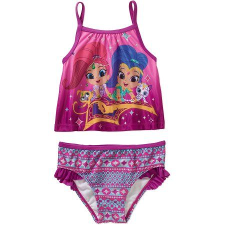 PAW PATROL RAINBOW 2 PIECE SWIM SUIT SIZE 2T 3T 4T NEW!