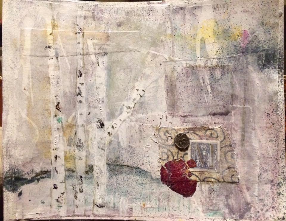 My artjournal ~ 201701 Martine Vormezeele #AVE #art #HideandSeek