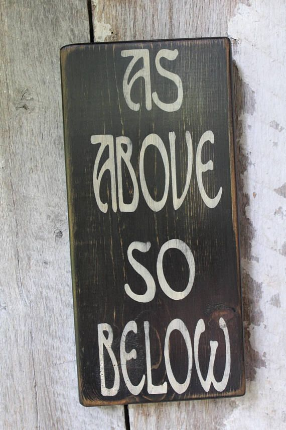 as above so below wood sign primitive wood sign wicca witch decor rh pinterest com
