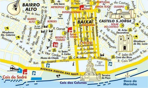 Quartier Baixa Lisbonne Carte.Plan Centre Lisbonne Photo Du Monde Portugal Lisbonne