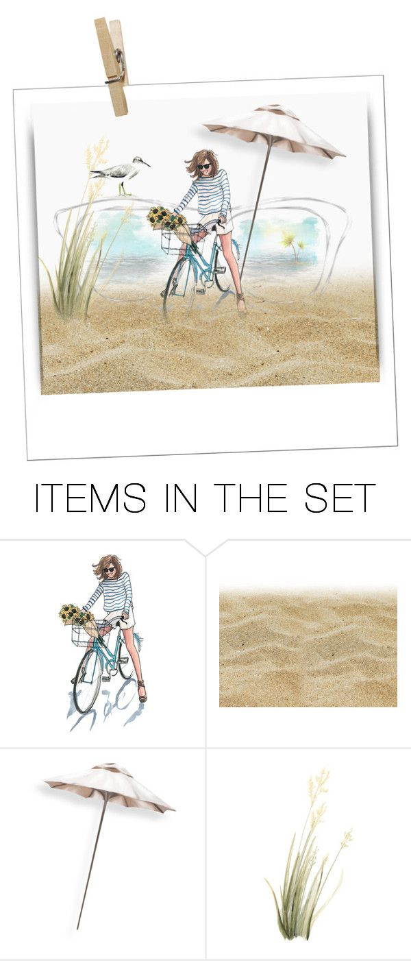 """""""beach polaroid"""" by art-gives-me-life ❤ liked on Polyvore featuring art, contestentry and thebeachfantabulous"""