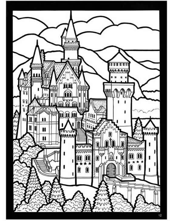 Coloring Pages Slideshow By Tharens Photobucket Castle