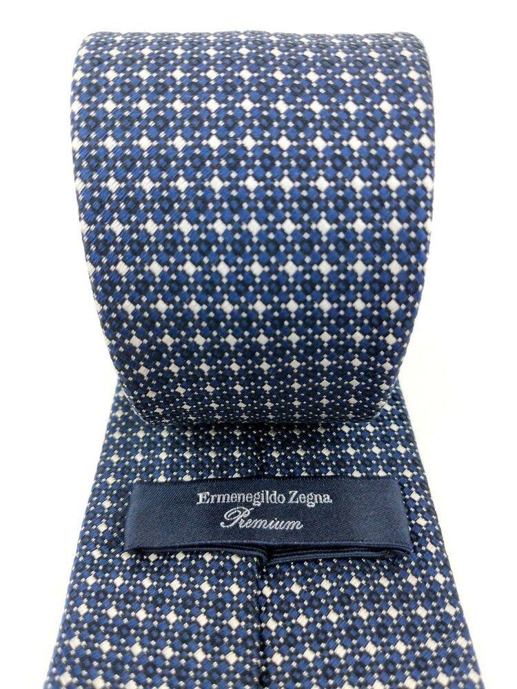 fc1b8f8a7f eBay #Sponsored ERMENEGILDO ZEGNA PREMIUM Geometric Blue Black White ...