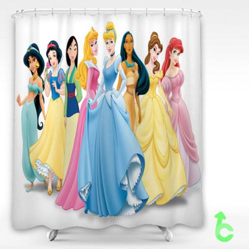Cartoon Disney Princess Shower Curtain