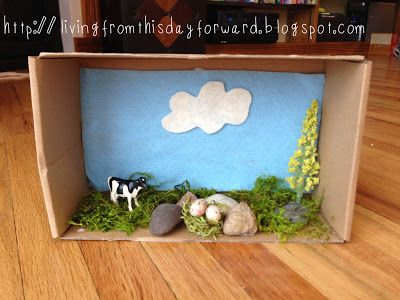 Fun easy diy project for kids create a cardboard box for Habitat container