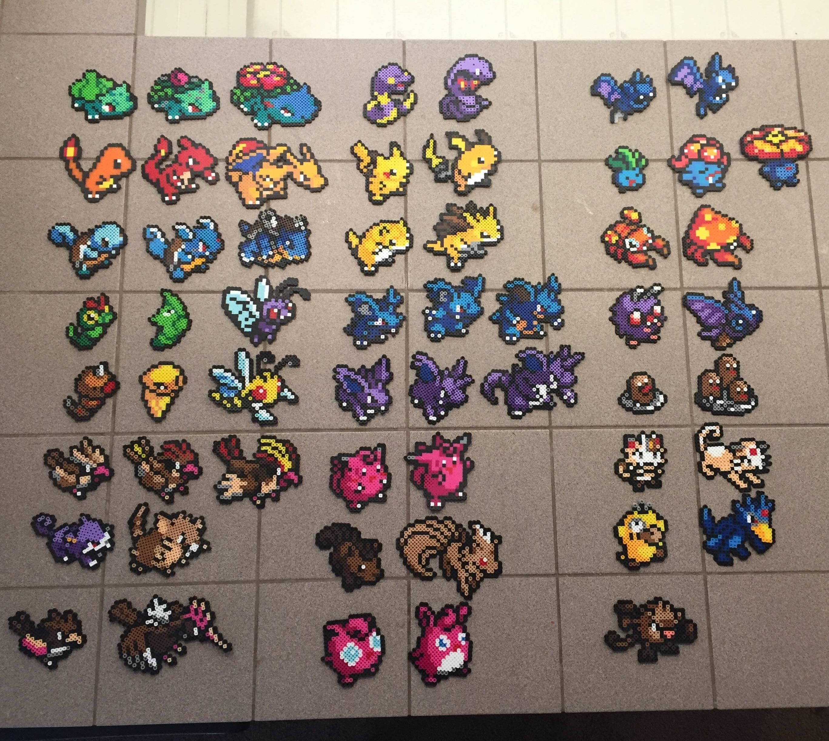 my girlfriend and i started doing perler beads with the original