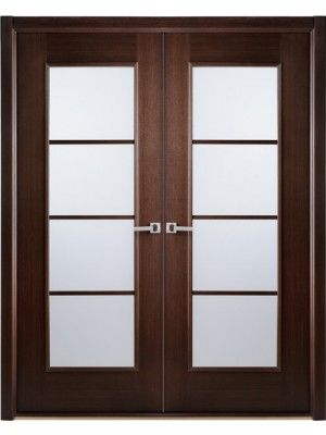 African Wenge Interior Double Door Frosted Simulated Divided Lite Made Byarrazzini Sku Modern Lux W Doors Interior Wood Doors Interior Double Doors Interior