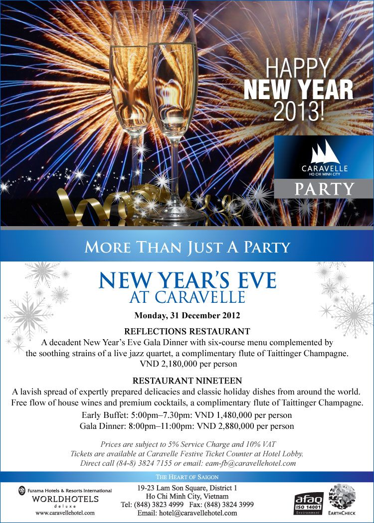 A Decadent New Year S Eve Gala Dinner With Six Course Menu
