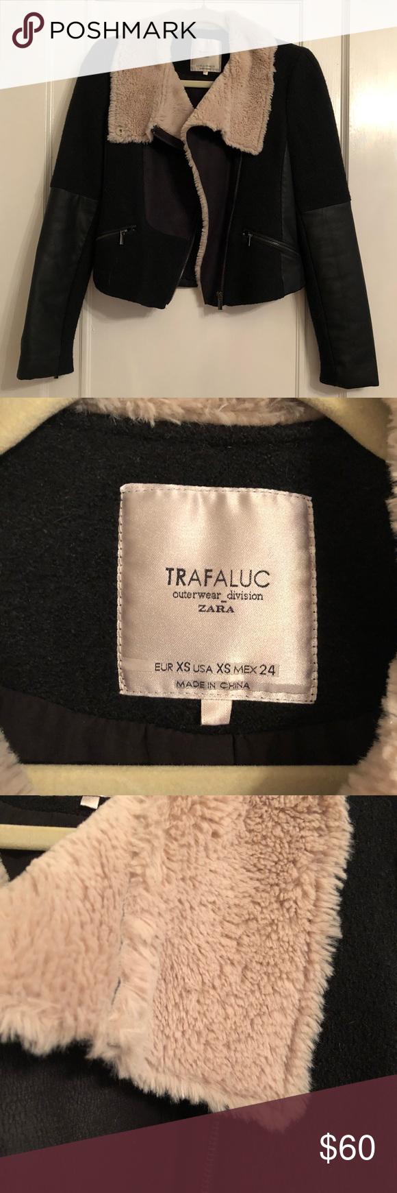 Sold Zara Trafaluc Aviator Clothes Design Outerwear Jackets Clothes [ 1740 x 580 Pixel ]