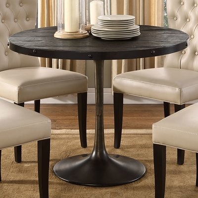 Greyleigh Amherst Industrial Dining Table Finish Black Dining