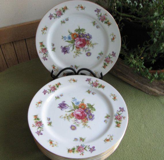 Dresdania Dinner Plates Harmony House 1954 Sears by LazyYVintage & Dresdania Dinner Plates Harmony House1954 Sears and Roebuck u0026 Co ...